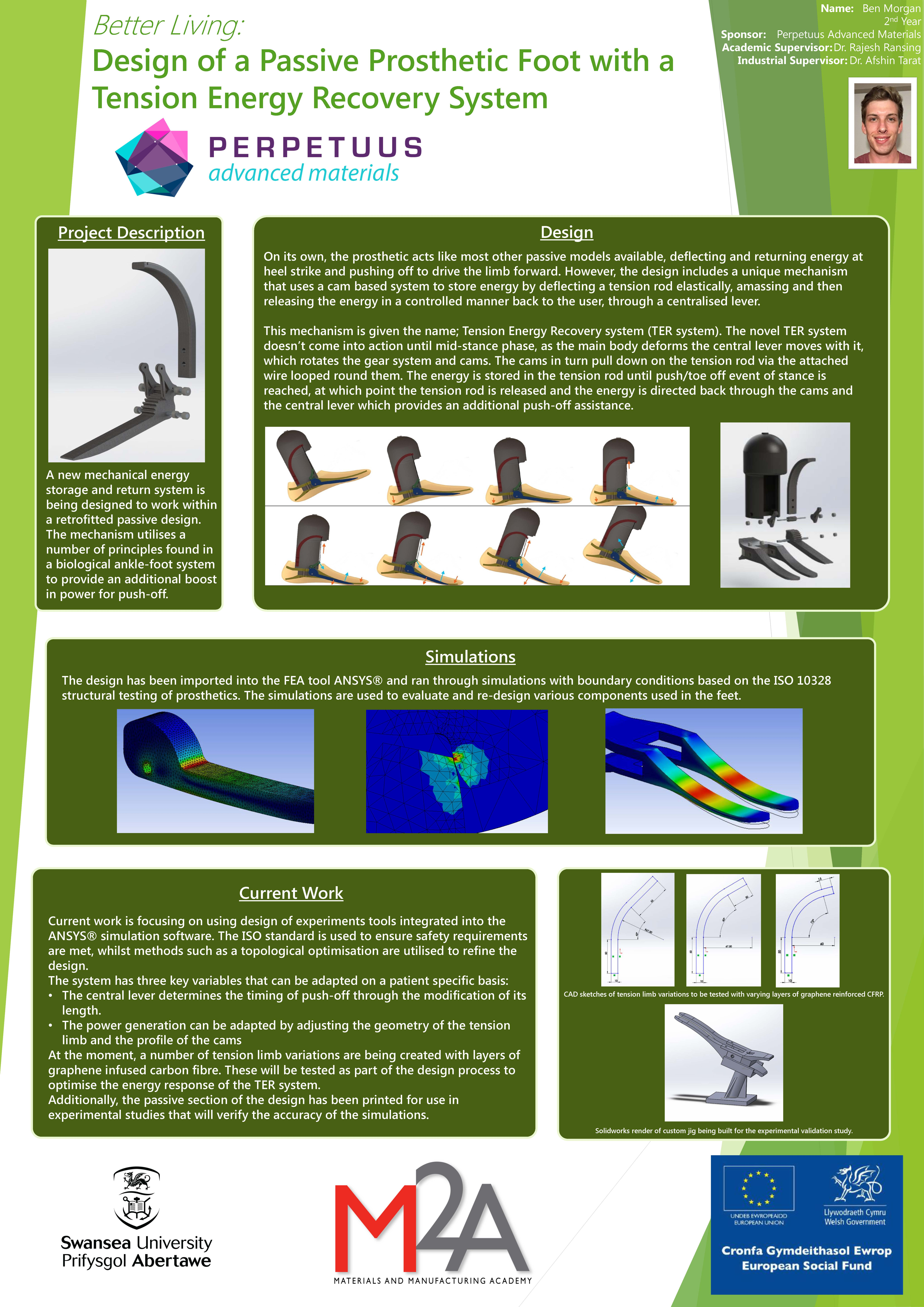 Design of a Passive Prosthetic Foot with a Tension Energy Recovery System