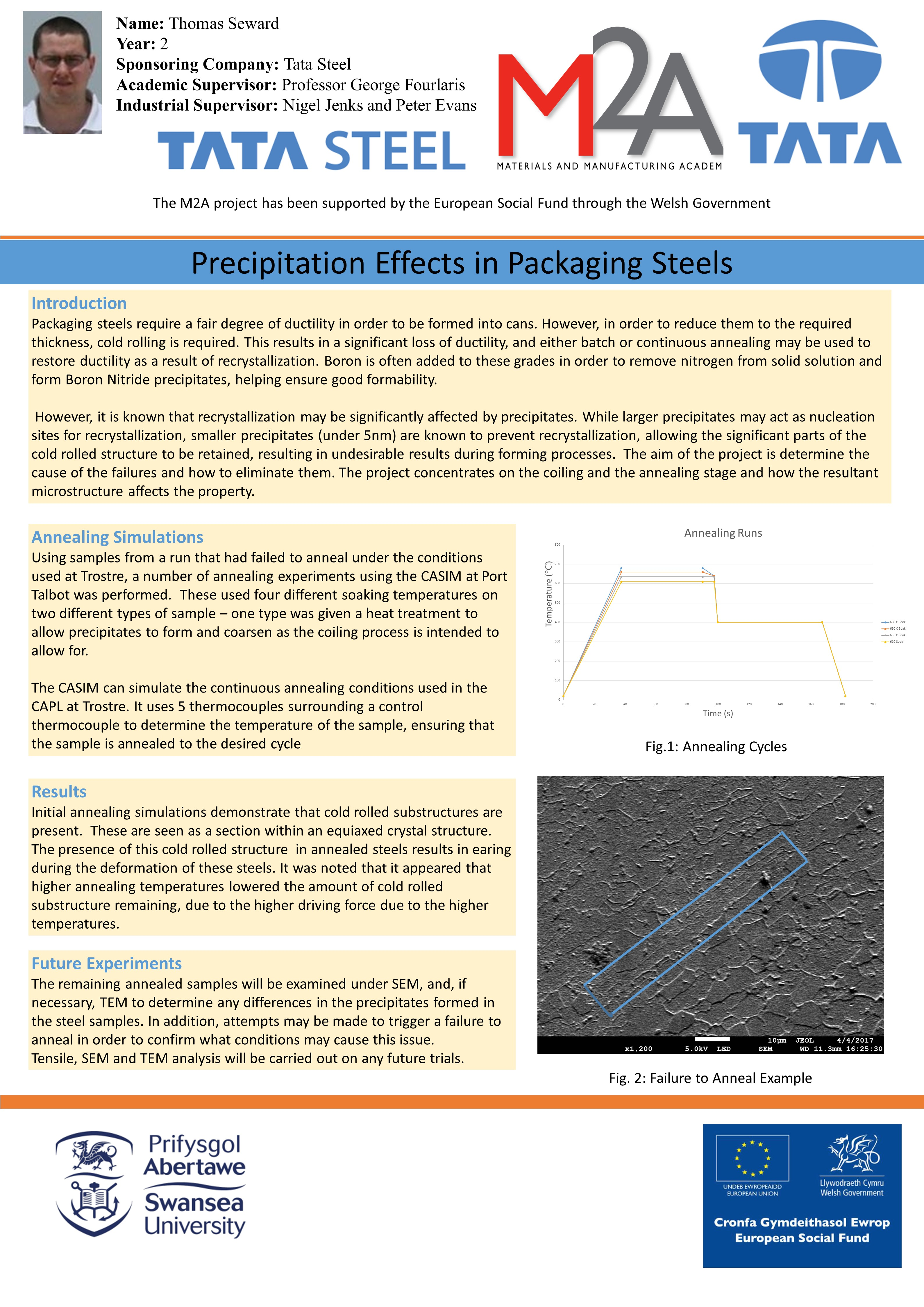 Precipitation Effects in Packaging Steels